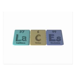 Laces-La-C-Es-Lanthanum-Carbon-Einsteinium.png Postcard