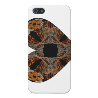 Lacework Floral Fractal Art Heart iPhone 5 Cases