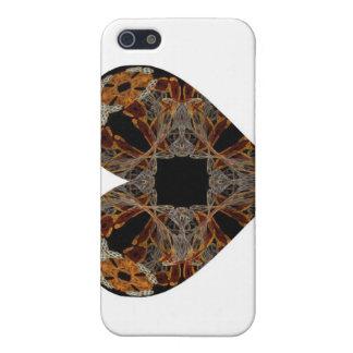Lacework Floral Fractal Art Heart iPhone 5 Cases