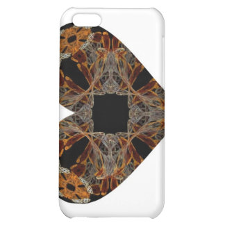Lacework Floral Fractal Art Heart Cover For iPhone 5C