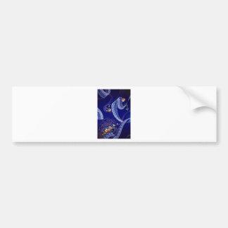 Lacey Blue Fractals Bumper Sticker