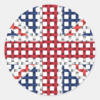 Lacey British flag Classic Round Sticker