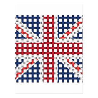 Lacey British flag Postcard