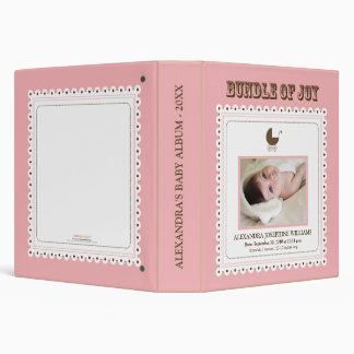 Lacey Carriage Stamp Baby's First Album (pink) 3 Ring Binder
