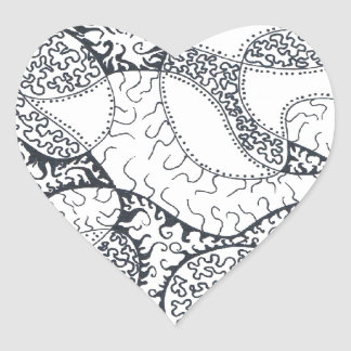 Lacey Doodle Heart Sticker