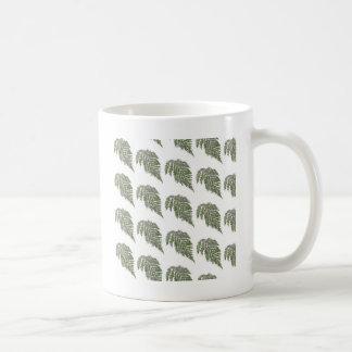 Lacey fern background coffee mug