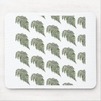Lacey fern background mouse pad