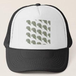 Lacey fern background trucker hat