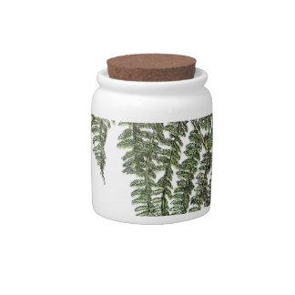 Lacey fern candy jar
