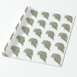Lacey fern gift wrapping paper
