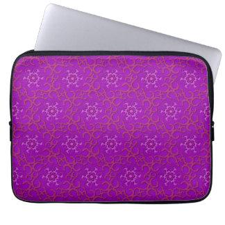 Lacey Flowers Neoprene Laptop Sleeve 13 inc