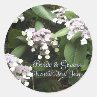Lacey Hydrangeas Save The Date Classic Round Sticker