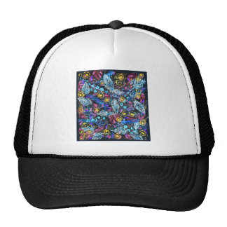 Lacey Leaves Mesh Hat