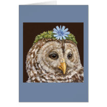 Lacey the barred owl card