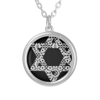 Lacey White Star of David Silver Plated Necklace