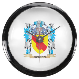 Lachenal Coat of Arms - Family Crest Fish Tank Clock