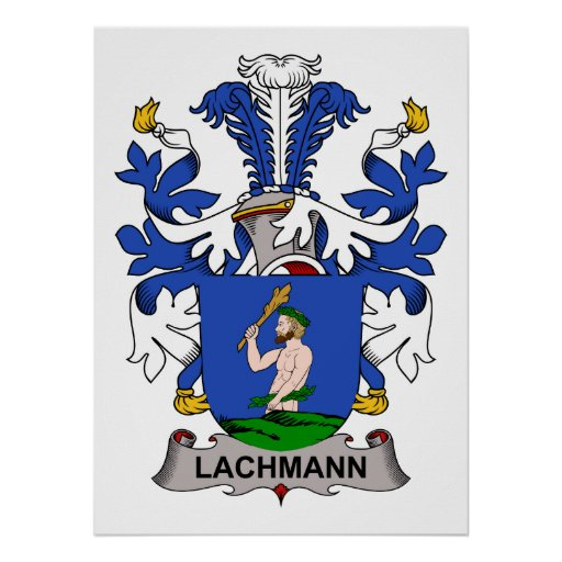 Lachmann Family Crest Poster
