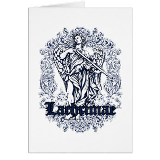 lachrimae blue affected design card
