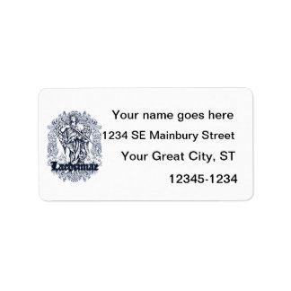 lachrimae blue affected design label