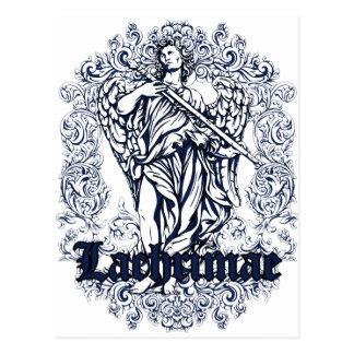 lachrimae blue affected design postcard