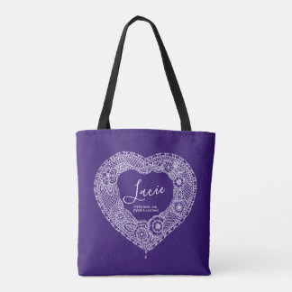 Lacie name meaning lace heart bag