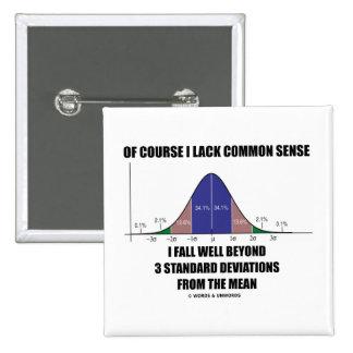 Lack Common Sense Fall Well Beyond 3 Std Devs Pinback Button