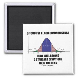 Lack Common Sense Fall Well Beyond 3 Std Devs Refrigerator Magnet