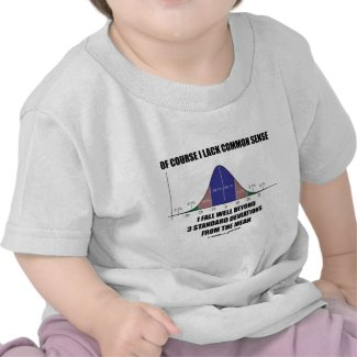 Lack Common Sense Fall Well Beyond 3 Std Devs Shirt