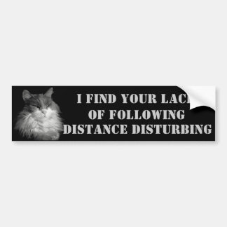 Lack of Following Distance Bumper Sticker