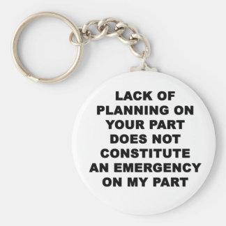 Lack of Planning Basic Round Button Keychain
