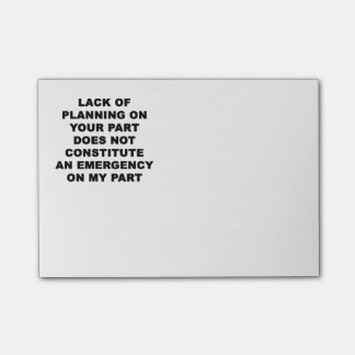 Lack of Planning Post-it® Notes