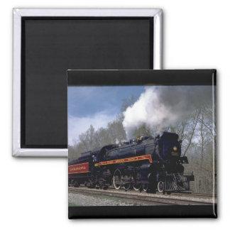 Lackawana (ex CP) 4-6-2 #2317, 1986_Trains 2 Inch Square Magnet