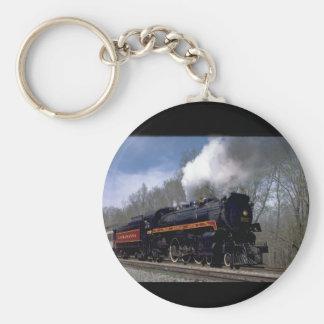 Lackawana (ex CP) 4-6-2 #2317, 1986_Trains Basic Round Button Keychain