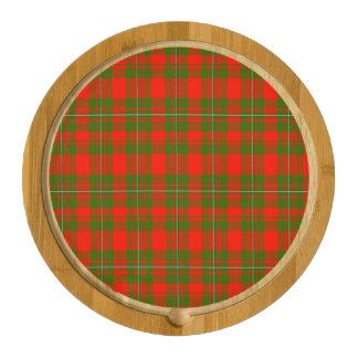Lackey Scottish Tartan Round Cheeseboard