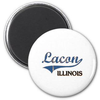 Lacon Illinois City Classic 2 Inch Round Magnet