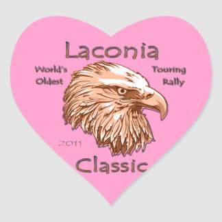 Laconia Classic Eagle 2011 gld Heart Sticker