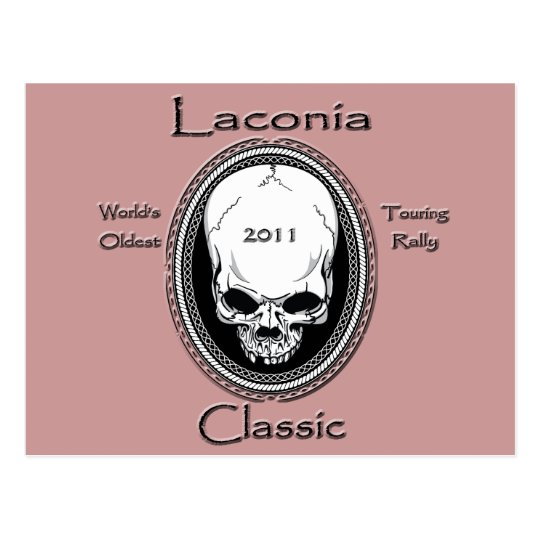 Laconia Classic Skull Postcard