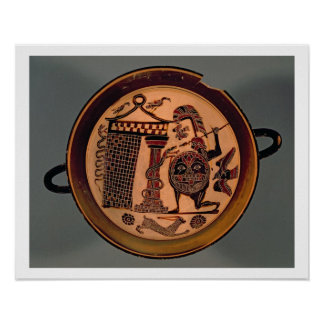 Laconian black-figure cup depicting a warrior atta poster