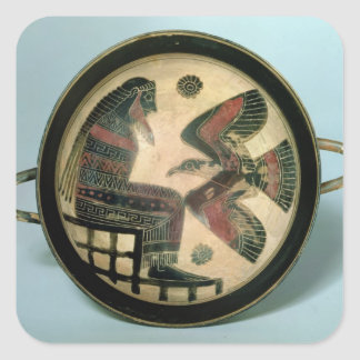 Laconian cup depicting Zeus and the eagle Square Sticker