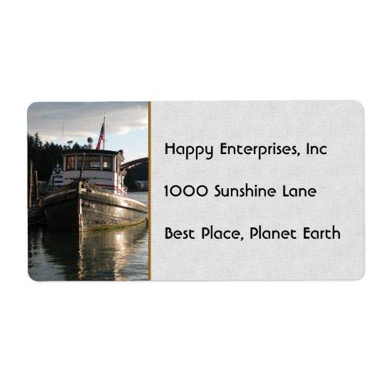 LaConner Tugboat Label