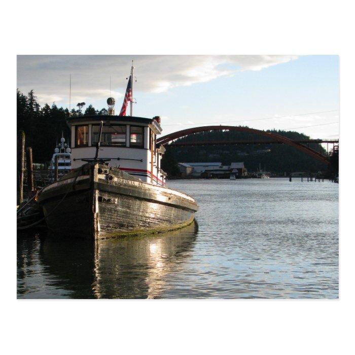 LaConner Tugboat Postcard