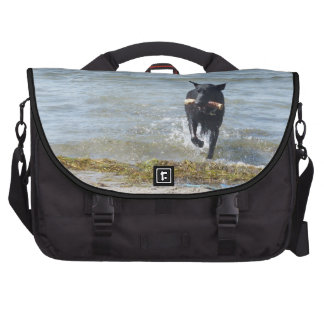 Lacquer Black German Shepherd Computer Bag