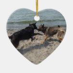 Lacquer Black German Shepherd Ornaments
