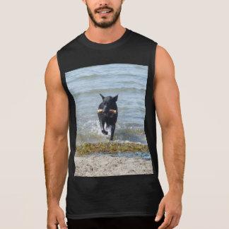 Lacquer Black German Shepherd Sleeveless Shirt