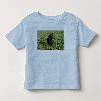 Lacquer Black German Shepherd Toddler T-shirt