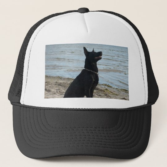 72d8d5a596c Lacquer Black German Shepherd Trucker Hat