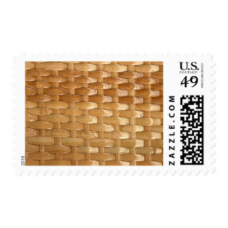 Lacquer Wicker Basketweave Texture Look Postage Stamps