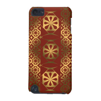 Lacquered Red and Gold Quilt Effect iPod Touch 5G Cover