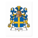 Lacroix Family Crest Postcard