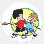 Lacrosse #2 classic round sticker